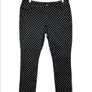Lauren Ralph Lauren Polka Dot Pants Black White 14